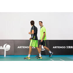 Set badmintonrackets voor volwassenen - startset - geel/blauw
