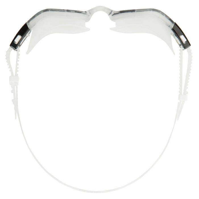 Zwembril Envision transparante glazen zwart