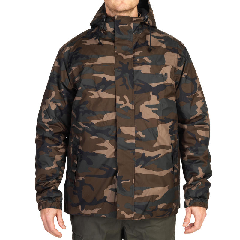 SIBIR 100 HUNTING JACKET CAMOUFLAGE WOODLAND GREEN