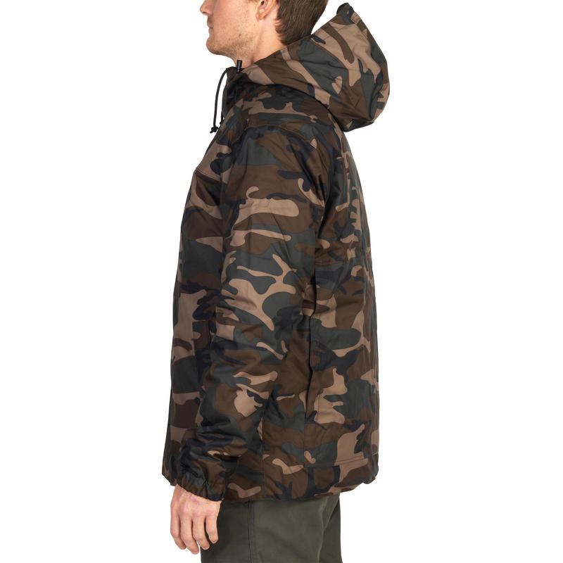 HUNTING JACKET 100 - WOODLAND CAMOUFLAGE GREEN