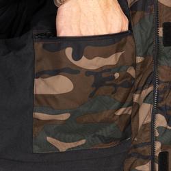 Warme camouflagejas voor de jacht 100 Woodland groen
