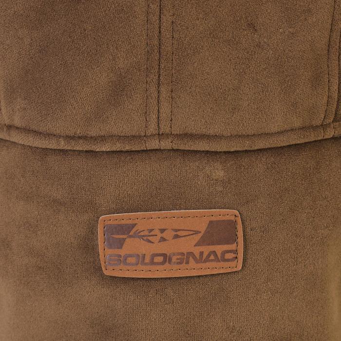 Gorro con orejeras caza Toundra 500 marrón