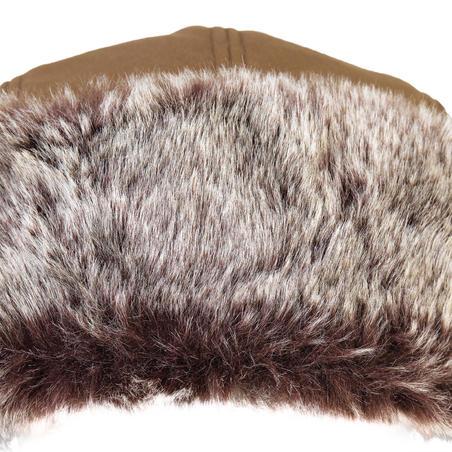 """Dirbtinio kailio medžioklinė kepurė """"T500"""", ruda"""