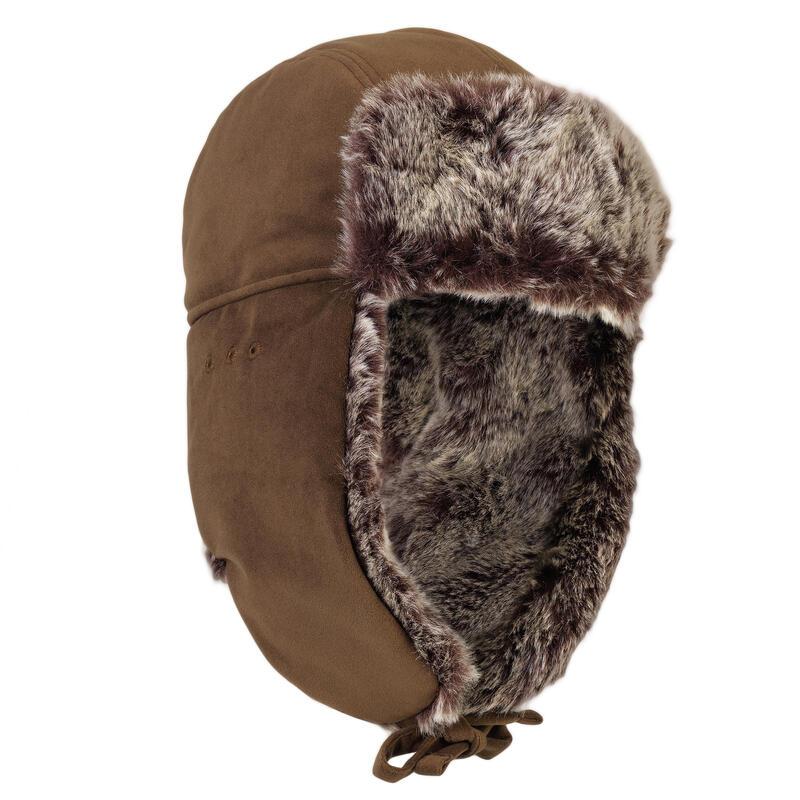 """Mākslīgās kažokādas medību cepure """"Toundra 500"""", brūna"""