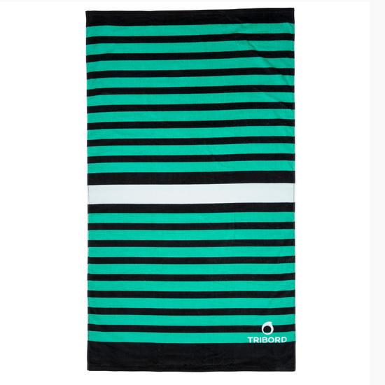 Handdoek Basic L print Rainbow Bluebird 145x85 cm - 1107897