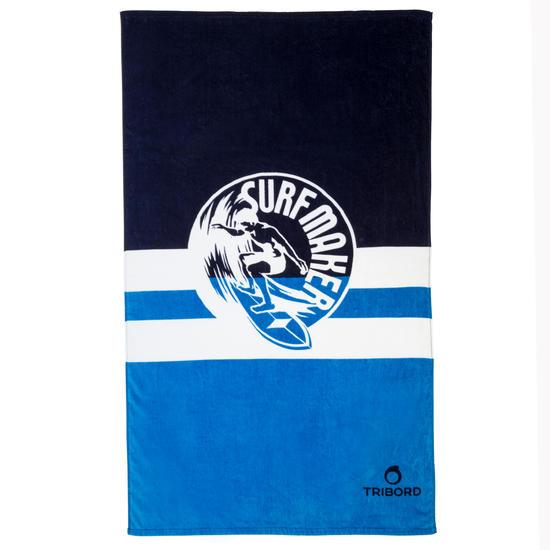 Handdoek Basic L print Rainbow Bluebird 145x85 cm - 1107905
