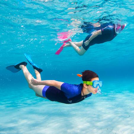 Aletas de snorkel SNK 520 adulto negro azul turquesa