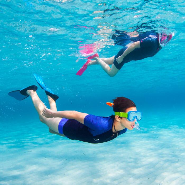 Palmes de snorkeling SNK 520 adulte noires turquoises - 1107906