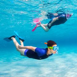 Palmes de snorkeling SNK 520 adulte noires turquoises