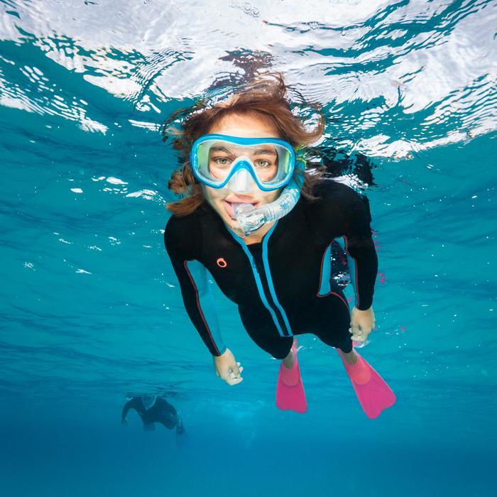 Tuba de snorkeling SNK 520 avec soupape adulte translucide - 1107916