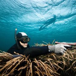 Snorkel voor harpoenduiken en vrijduiken Zoom zwart