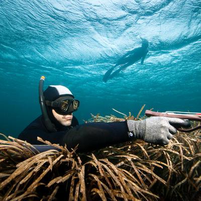 Tuba de chasse sous-marine en apnée Zoom noir