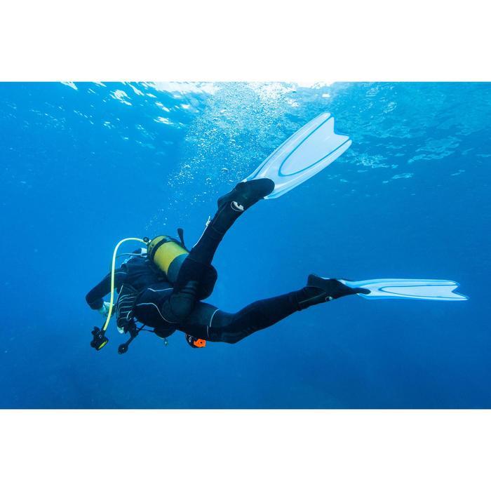 Palmes de snorkeling ou de plongée bouteille SNK 540 adulte turquoises rouges - 1107926