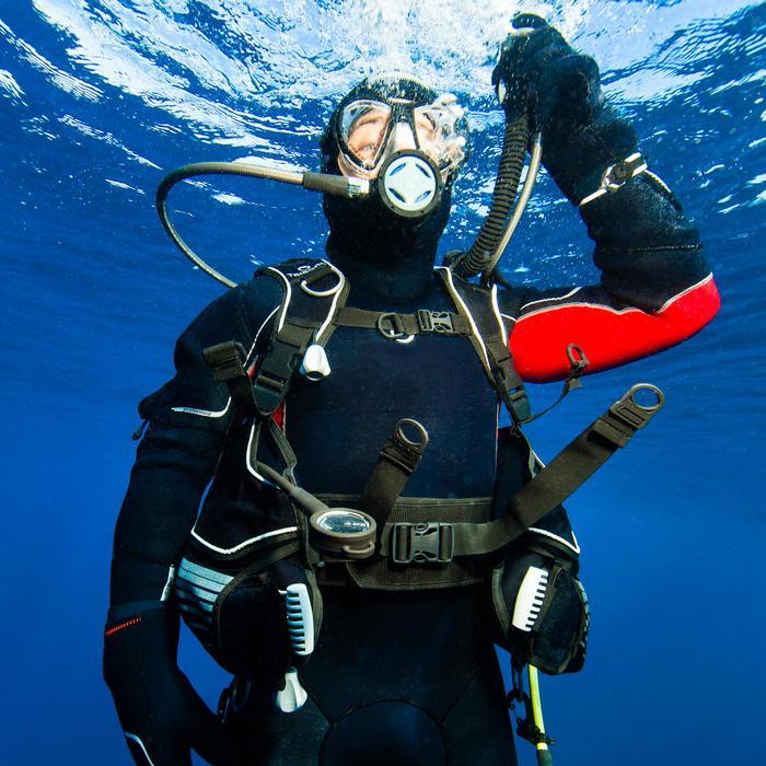 Cagoule de plongée sous-marine pour combinaison semi-étanche 7 mm - 1107934
