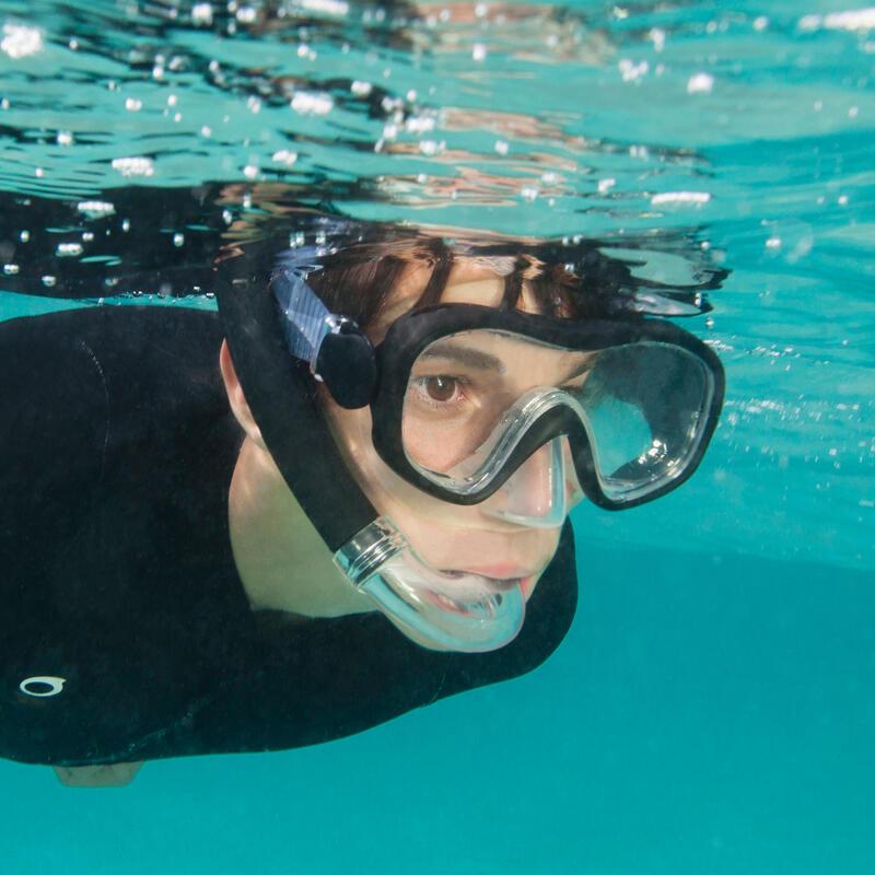 Kit de snorkel PMT aletas máscara tubo 100 niños azul negro