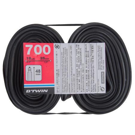 700x18-25 48 mm Presta Valve Inner Tubes Twin-Pack