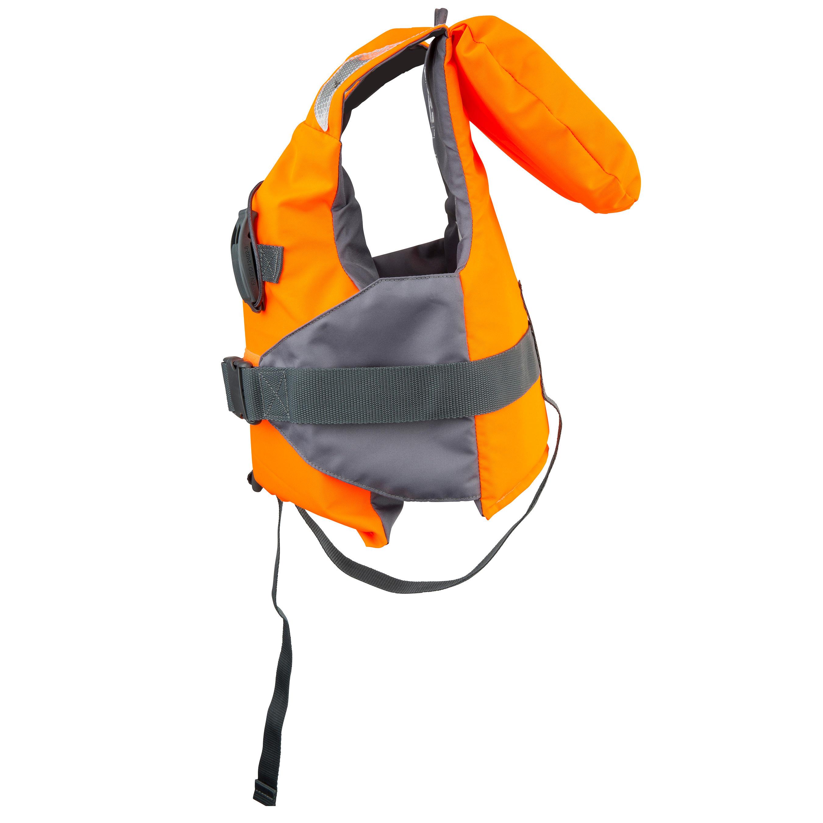 LJ 100N EASY Children's Foam Life Jacket - Orange/Grey