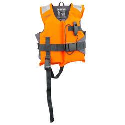 Reddingsvest met schuim voor kinderen LJ 100N Easy oranje/grijs