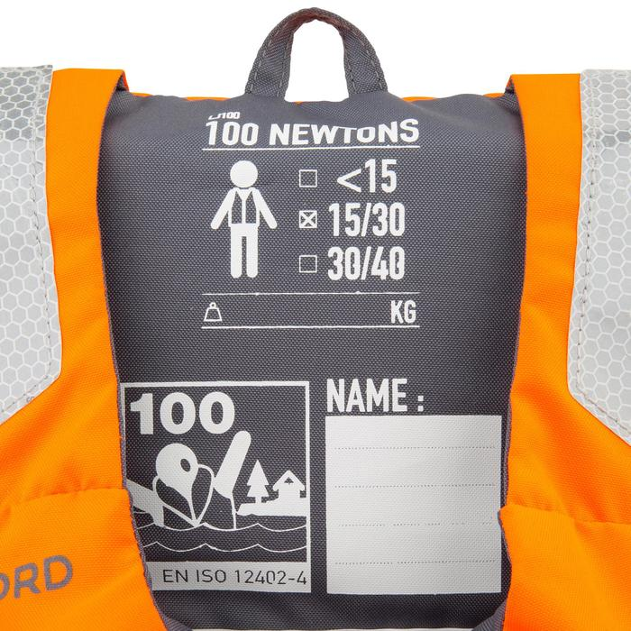 Reddingsvest met schuim LJ 100N Easy voor kinderen oranje/grijs