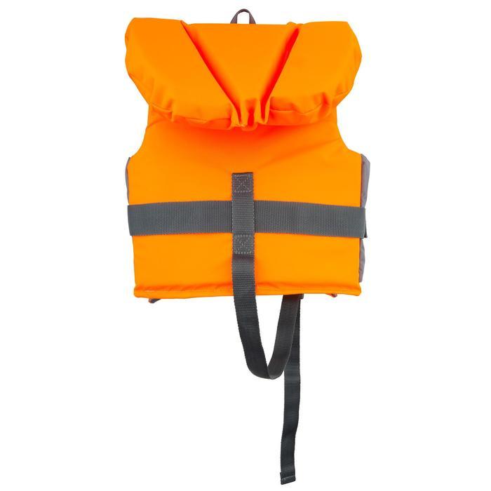 Chaleco Salvavidas Barco Vela Tribord LJ 100N Easy Niño Naranja Gris Espuma