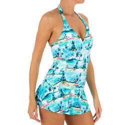 Sara Women's One-Piece Skirt Swimsuit - Navy