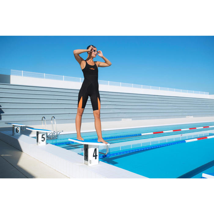 Gafas de natación B-FAST negro verde claro