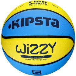 5號 兒童籃球 Wizzy - 藍色/黃色。 較輕。適合10歲以下。