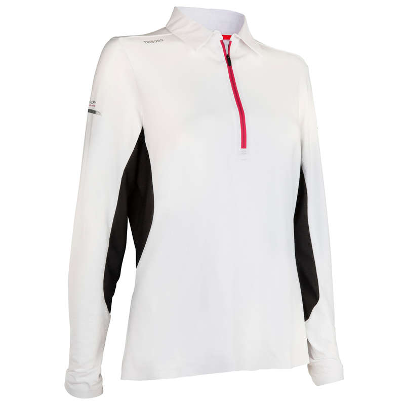 REGATTA WARM WEATHER WOMAN CLOTHES - Women's RACE LS Polo White TRIBORD