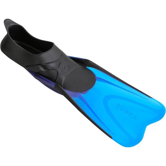 Aletas de snorkel 520 adulto negro azul