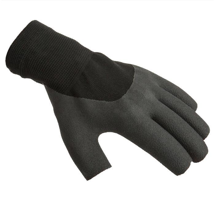 Zeilhandschoenen 100 voor volwassenen zwart