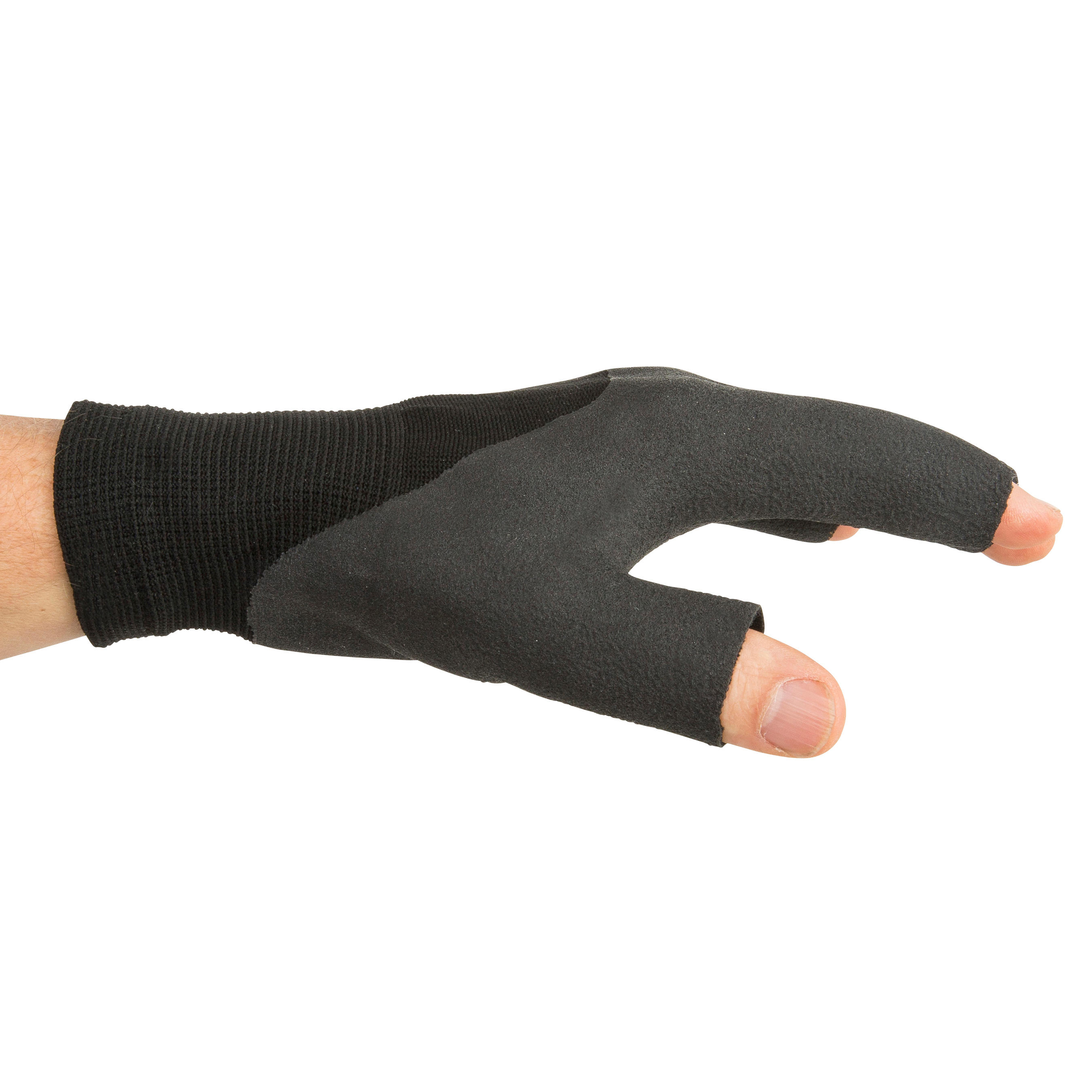 Sailing 100 Adult Sailing Fingerless Gloves - Black