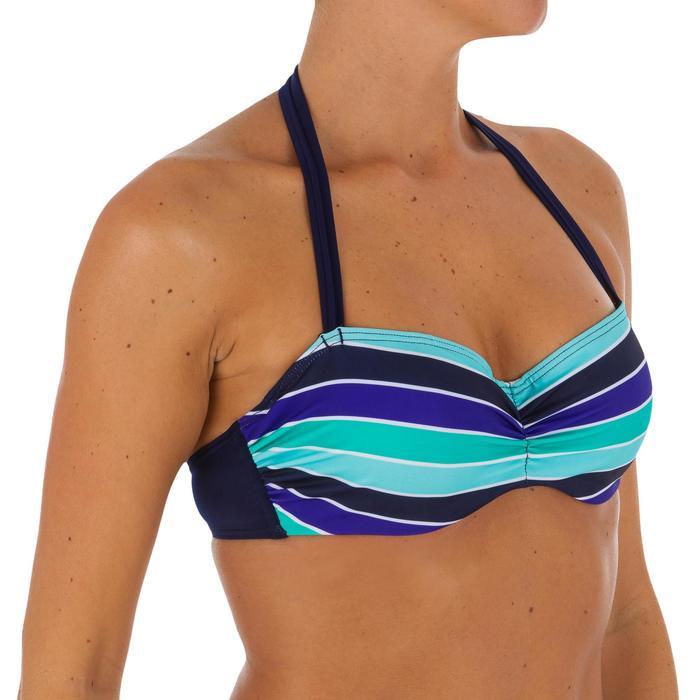 Haut de maillot de bain femme bandeau armatures MALIBU avec lien cou amovible