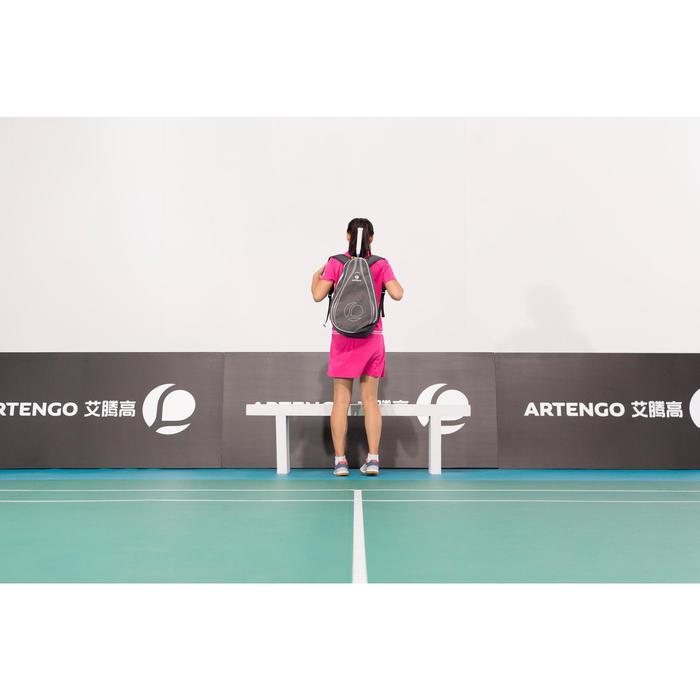Rucksack Tennis 100 BP 100 Schlägertasche grau/rosa