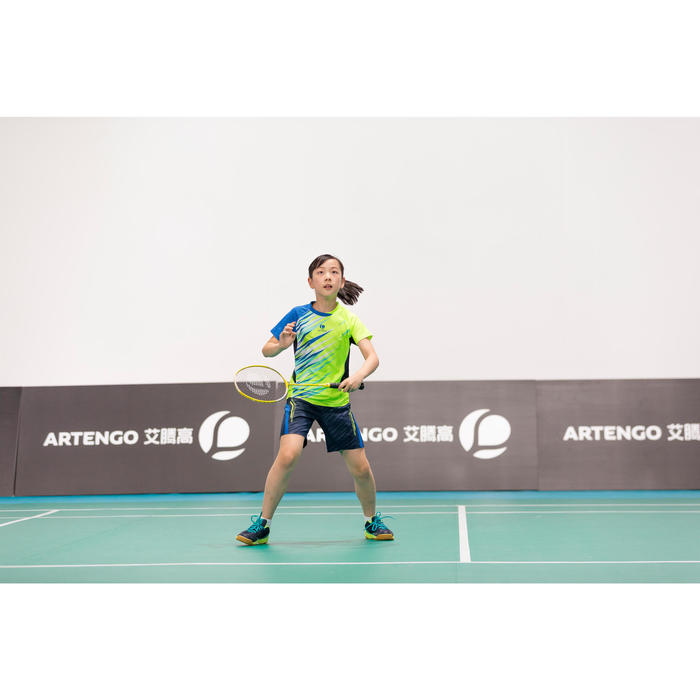Badmintonschläger BR800 Kinder gelb 100% aus Graphit