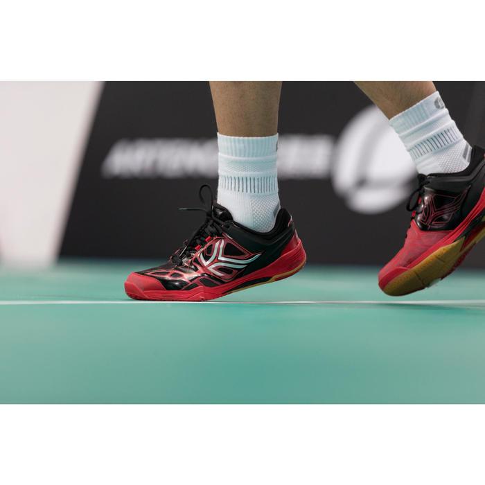 Hallenschuhe BS860 Badminton/Squash Herren schwarz/rot