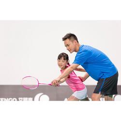 Badmintonschläger BR700 Easy Grip besaitet Kinder rosa