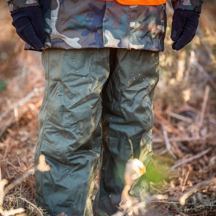 Sobrepantalón Caza Solognac Inverness 100 Niños Impermeable Verde