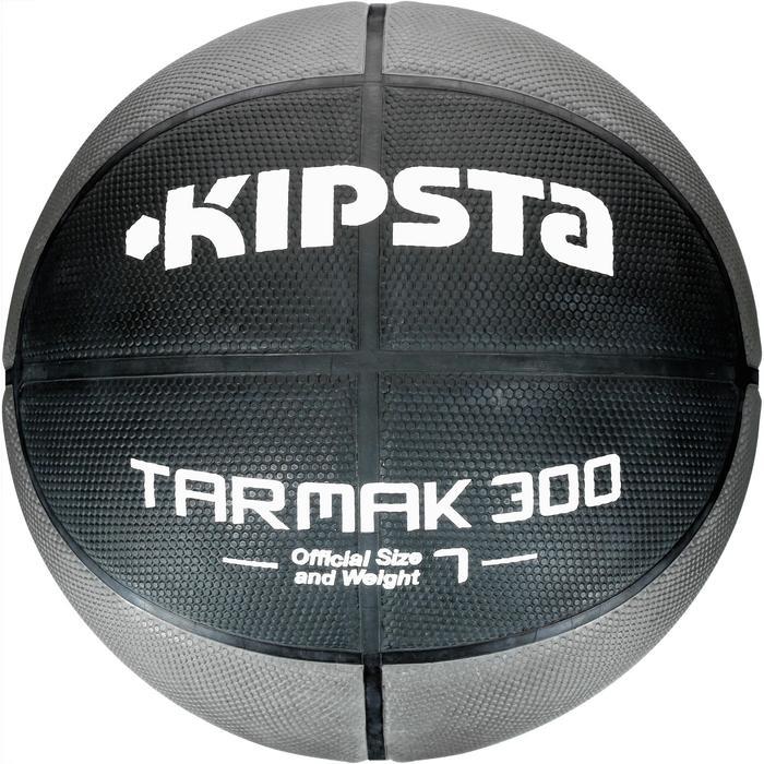 Ballon de basket homme R300 taille 7 noir. Résistant. A partir de 14 ans. - 1109632