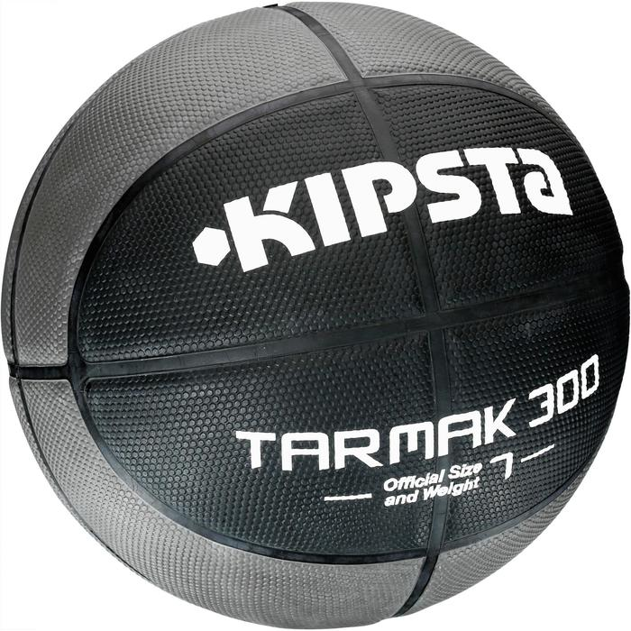 Ballon de basket homme R300 taille 7 noir. Résistant. A partir de 14 ans. - 1109633