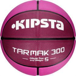 Balón de baloncesto niño R300 talla 5 rosa Resistente.