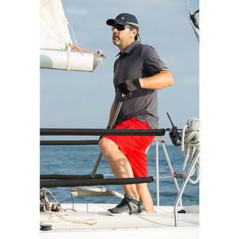 Polo manches courtes bateau Race Homme Gris chiné - 1109909