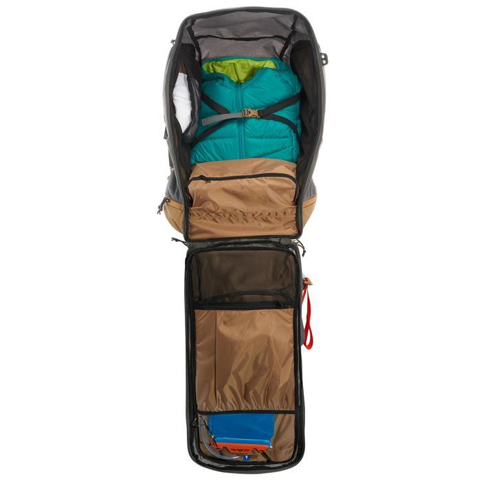 Sac à dos Trekking Travel 500 Femme 70 litres cadenassable gris - 1109927