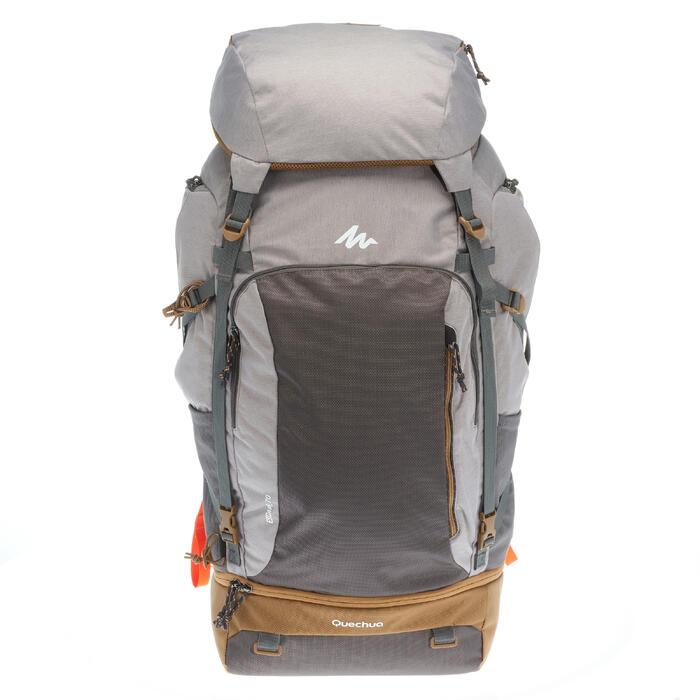 ebaec1746 Mochila de Montaña y Trekking Forclaz Travel500 70 Litros Mujer Gris ...