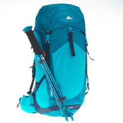 Rucksack Bergwandern MH500 30 Liter blau
