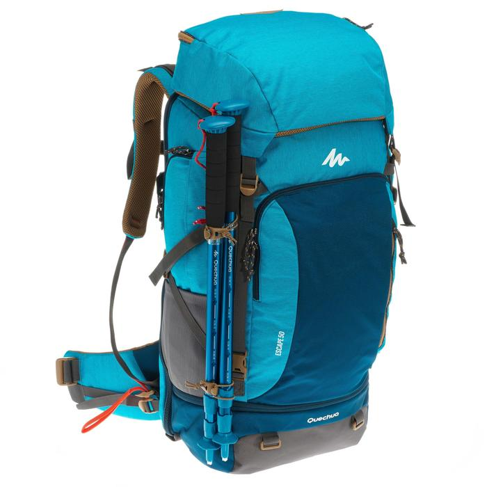 Sac à dos Trekking TRAVEL 500 Femme 50 litres cadenassable bleu - 1109980