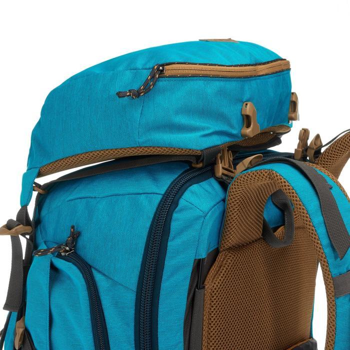 Trekrugzak Travel 500 dames 50 liter afsluitbaar blauw