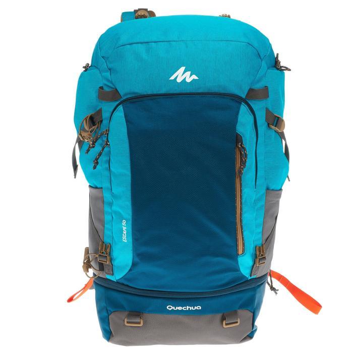 Mochila Trekking TRAVEL 500 mujer 50 litros apta para candado azul ... f988750ae6b