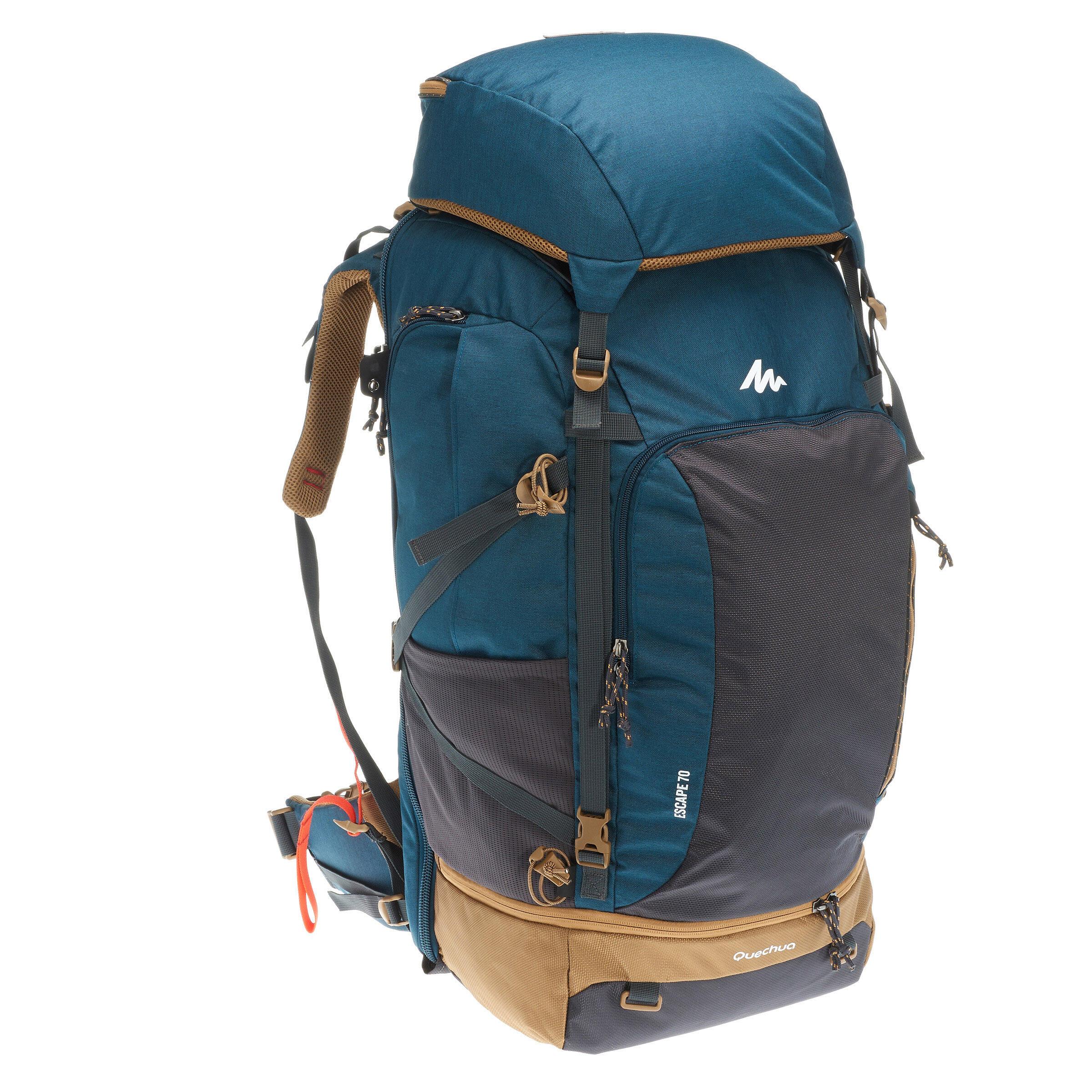 forclaz sac dos trekking travel 500 homme 70 litres cadenassable bleu decathlon. Black Bedroom Furniture Sets. Home Design Ideas