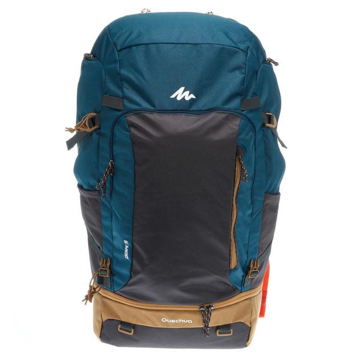 Sac à dos Trekking  TRAVEL 500 Homme  70 litres cadenassable  bleu - 1110020
