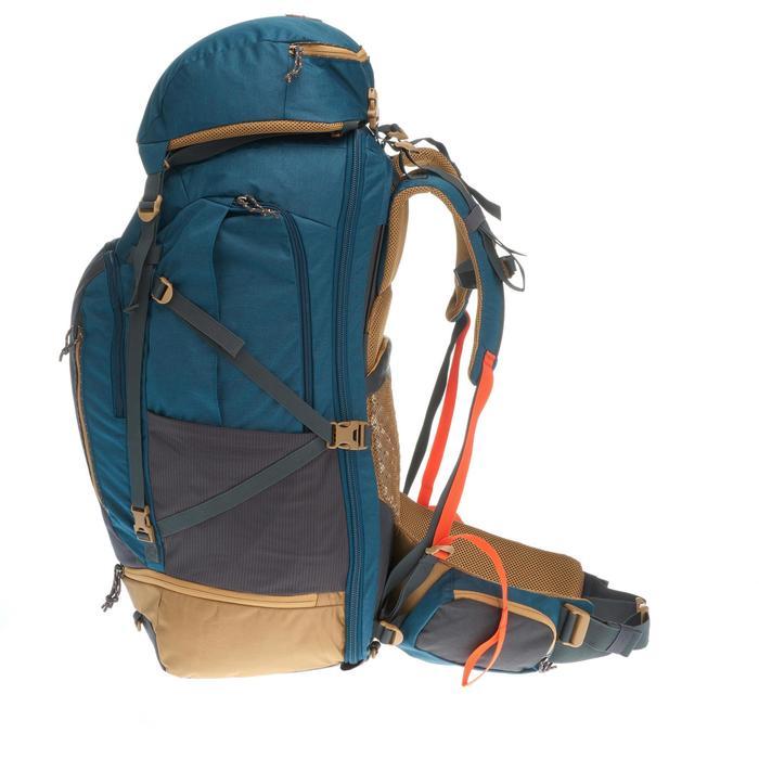 Sac à dos Trekking  TRAVEL 500 Homme  70 litres cadenassable  bleu - 1110024